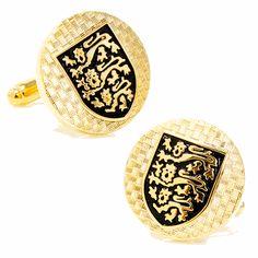 Scottish Lion Shield Cufflinks, Round Cufflinks / Cufflinksman
