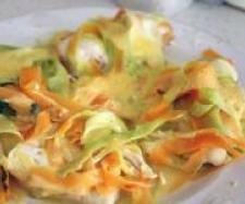 Recette Blancs de poulet aux tagliatelles de carottes et courgettes par nonu2b - recette de la catégorie Plat principal - divers