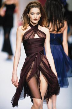 Carla Bruni (as a model). Now, she is a singer.