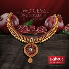 Precious gems handpicked with love. A Necklace handcrafted to perfection. #akshayagold #necklace #jewellery