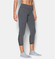 Women's UA Mirror Color Block Crop, RHINO GRAY