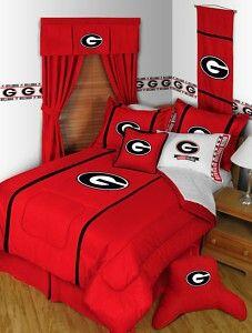 Bedroom 1 Georgia Bulldogs Ohio State Buckeyes Sports Bedding Twin Comforter Bed