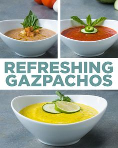 Refreshing Gazpachos 3 Ways | Recipes