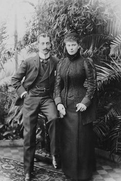 Prince Albert Victor, Duke of Clarence and Avondale and his finance Princess Mary of Teck 4 Dec 1891 Victoria Prince, Victoria Reign, Victoria And Albert, Queen Victoria, Princess Louise, Princess Beatrice, Queen Mary, Queen Elizabeth Ii, Human Icon
