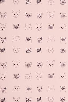 Cats Wallpaper - anthropologie.com