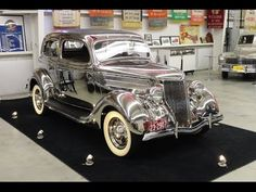 My Car Story with Lou Costabile 1936 Ford Stainless Steel Tudor Deluxe Touring Sedan Model 68-700 - YouTube