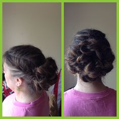 Mother of the bride.  Braided Updo style
