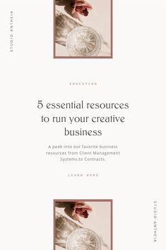 My 5 Favorite Creative Business Resources — Studio Antheia - Pony Frisur Online Entrepreneur, Business Entrepreneur, Business Marketing, Email Marketing, Branding Your Business, Business Design, Creative Business, Personal Branding, Starting A Business