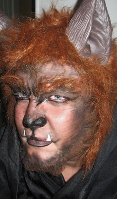Were Wolf Or Werewolf Creepy Costume But Great Face Paint