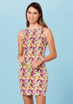Šaty s barevným celopotiskem květů #ModinoCZ