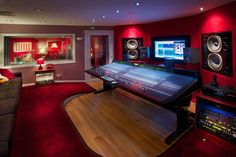 Summerfield Recording Studios, Birmingham, UK. The control room features a…