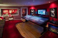 Summerfield Recording Studios, Birmingham, UK. The control room features a Soundtracs Jade console