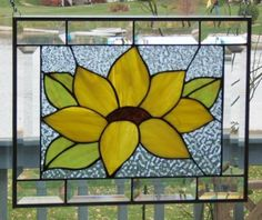 Sunflower stained glass!