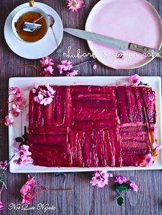 Rhubarb Ginger Cake Recipe