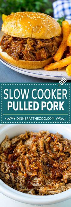 Pulled Pork Recipe Slow Cooker, Pulled Pork Recipes, Slow Cooker Pork, Easy Crockpot Pulled Pork, Crock Pot Pulled Pork, Pulled Pork Rub, Tacos Crockpot, Healthy Crockpot Recipes, Slow Cooker Recipes