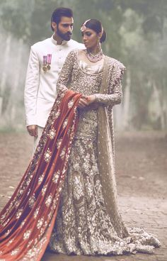 Pakistani Designer: The Jasmine Court by Elan Photographer: Abdullah Harris Models: Rabia Butt & Hasnain Lehri