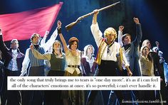 """the only song that truly brings me to tears is """"one day more"""". it's as if i can feel all of the characters' emotions at once. Les Mis Movie, I Movie, Theatre Geek, Musical Theatre, Les Miserables Poster, Hadley Fraser, Only Song, French Boys, The Greatest Showman"""