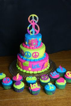 Peace Sign Cake love it