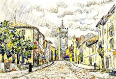 The Athenaeum - The Tower, Viviers (Paul Signac - )