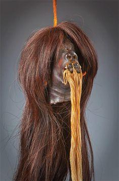An actual Jivaro shrunken head.