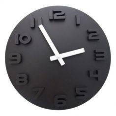 L'horloge design noire.