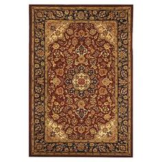 Hand-tufted wool rug with a Persian-inspired motif.   Product: RugConstruction Material: 100% WoolColor: Burgundy and navyFeatures:  Hand-tuftedAntique washed  Note: Please be aware that actual colors may vary from those shown on your screen. Accent rugs may also not show the entire pattern that the corresponding area rugs have.Cleaning and Care: Professional cleaning recommended