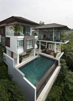 Style At Home, Cool House Designs, Modern House Design, Modern Houses, Pool Designs, Asian House, Crazy Houses, Luxury Homes Dream Houses, Dream House Exterior
