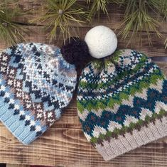 """New vision of Frosty Winter Hat. Now it is more spring 😀"" Fair Isle Knitting Patterns, Fair Isle Pattern, Knit Patterns, Punto Fair Isle, Etsy Shop Names, Knit In The Round, Circular Knitting Needles, Winter Hats For Women, Beanie Pattern"