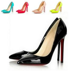Find More Pumps Information about 6 Colors Big Size Women Pumps Sexy Red Bottom Pointed Toe High Heels Shoes Woman 2014 Brand New Design Wedding Party Shoes JAM7,High Quality shoe filler,China shoe umbrella Suppliers, Cheap shoe necklace from Dear shoes on Aliexpress.com