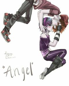 I really cant wait to hear the full version of 'angel' and to read the e book. but it contains Anna and Zoe. Anna Blue and Damien Dawn 'angel' Emo Anime Girl, Blue Anime, Dark Anime, Cute Emo Couples, Anime Couples, Blue Drawings, Couple Drawings, Manga Anime, Manga Art