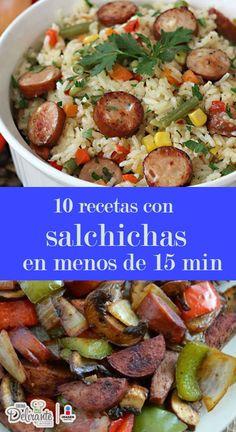 recetas faciles y rapidas con salchichas | CocinaDelirante