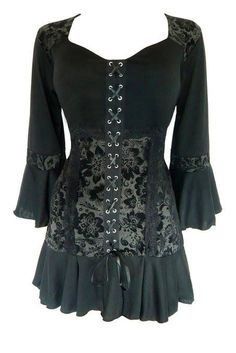 bb865b2336 Dare To Wear Victorian Gothic Women s Plus Size Cabaret Corset Top Black  Dahlia