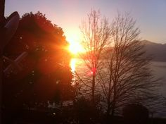 Looking at Sunrise over Lake Maggiore from our dining room window in Pascia, Below is the link to a video from our rental apartment in Residenza Il Pascia. Via Nazionale 70 Oggebbio (VB) 28844, Italy. https://www.youtube.com/watch?v=pKHH1QseBJ4
