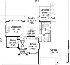 Traditional House Plan 42473 Level One