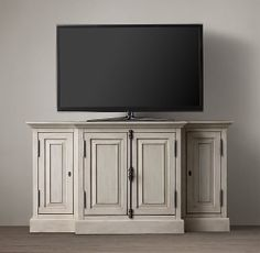 """French Casement 60"""" Closed Media Console"""