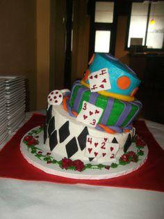 Mad Hatter Topsy Turvy Cake