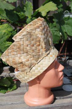 Lauhala Tahitian Dance costume headpiece headdress base. Add your own decor.