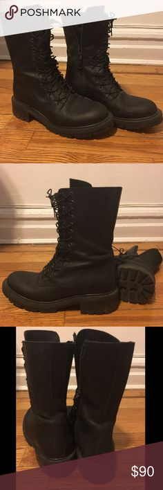 Allsaints lace up boots Lace up combat toots Allsaints Shoes Combat & Moto Boots