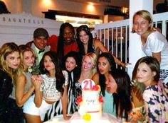Selena Gomez and her friends on her 21st birthday