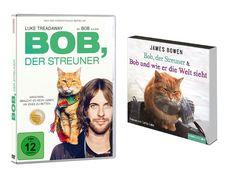 Nur noch heute: Wir verlosen Bob, der Streuner als DVD und Hörspiel. Zum Teilnahmeformular: