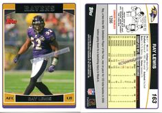 2006 Ray Lewis, Ravens Itm#F7169 2 Topps cards #163 http://www.rcsportscards.com/ravens-2000---2009.html