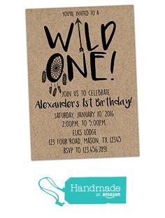 Wild ONE Birthday Invitation for 1st Birthday Boy Invite from Party Print Express https://smile.amazon.com/dp/B01H1AB37U/ref=hnd_sw_r_pi_dp_Mrwqzb3XTAHT0 #handmadeatamazon