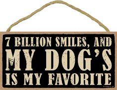 "7 Billion Smiles Sign 5""x 10"" with Jute Hanger"