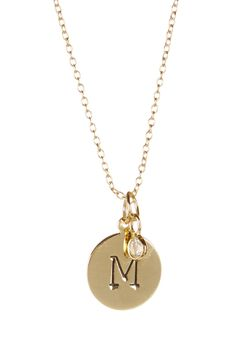Initial & CZ Charm Necklace by Nordstrom Rack on @nordstrom_rack
