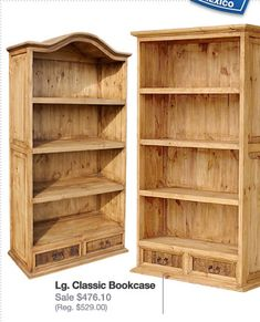 Oak Furniture - Receive The Furniture You Desire With One Of These Tips Pine Bookcase, Rustic Bookshelf, Built In Bookcase, Rustic Pine Furniture, Cabin Furniture, Woodworking Projects Diy, Wood Projects, Lodge Style Decorating, Decoration