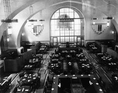 Harvey House Restaurant at Union Station. {Built in 1939, the restaurant closed in 1967, but the beautiful space itself still exists.}