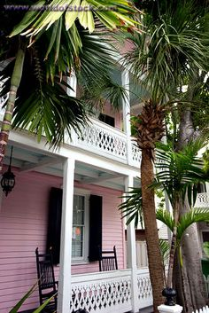 Pink house on Eaton Street Key West architecture