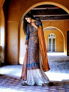 Gul Ahmed Festive Eid Collection 2014-2015 | Royal Festive Dresses – She9 | Change the Life Style - FASHIONPAB | FASHIONPAB