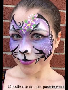 Kitty by doodle me do face painting