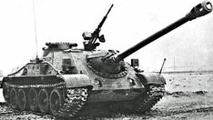 SU-122-54 - Soviet self-propelled gun based on T-54 chassis